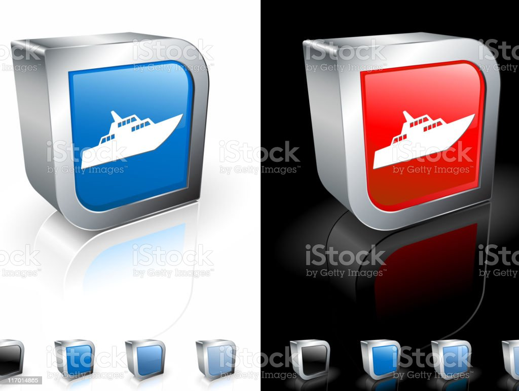 luxury yacht 3D royalty free vector art royalty-free stock vector art