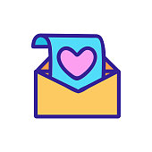 Luyub writing icon vector. Thin line sign. Isolated contour symbol illustration