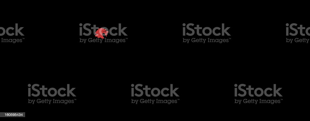 lying businessman with a long nose vector art illustration