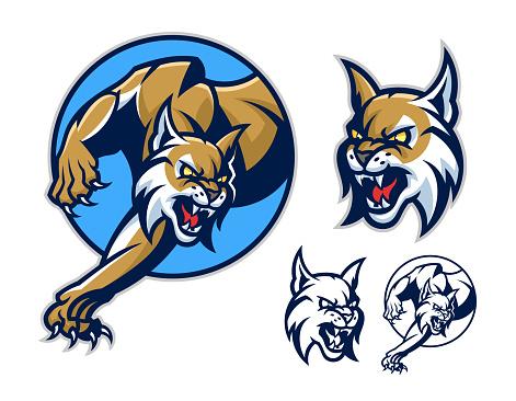 Lynx emblem in circle