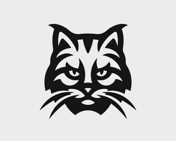 Lynx head logo. Bobcat emblem design editable for your business. Vector illustration. Lynx head logo. Bobcat emblem design editable for your business. Vector illustration. bobcat stock illustrations