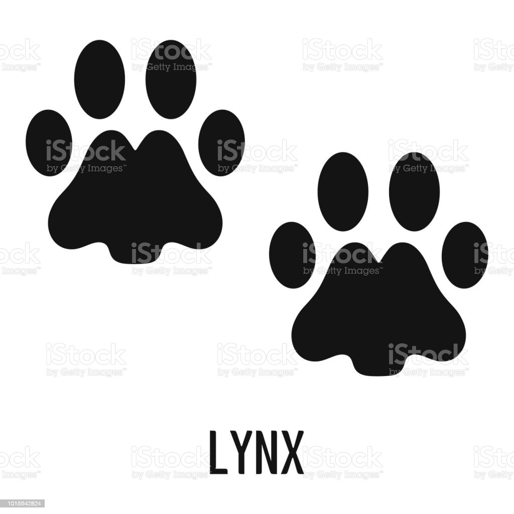 Lynx Step Icon Simple Style Stock Illustration - Download