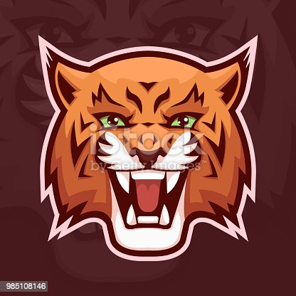 Lynx mascot symbol. Wildcat head. Vector illustration, EPS 10.