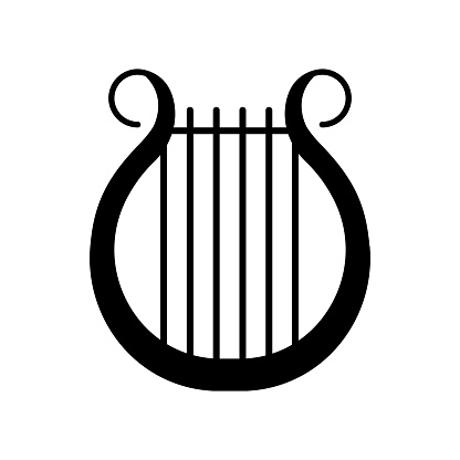 Lyra black glyph icon