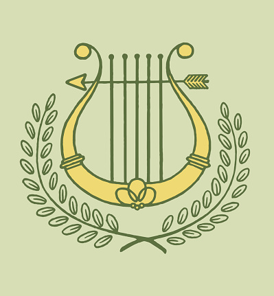 Lyre and Laurel Branches