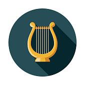 istock Lyre Design Greece Icon 1014599782