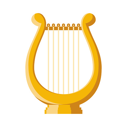 Lyre Icon on Transparent Background