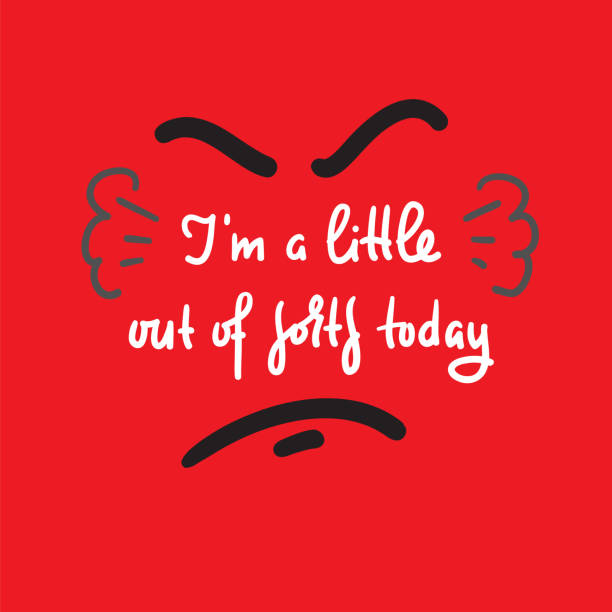 i'm a little out of sorts today - inspire motivational quote. hand drawn beautiful lettering. print for inspirational poster, t-shirt, bag, cups, card, flyer, sticker, badge. cute and funny vector - jealous emoji stock illustrations, clip art, cartoons, & icons