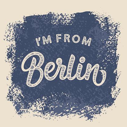 I'm From Berlin T-shirt print design