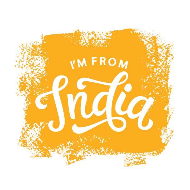 Soy diseño impresión de India camiseta estilo retro - ilustración de arte vectorial