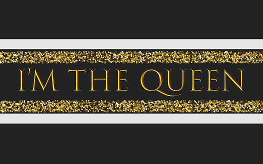 I'm the queen for t-shirt print design with beads