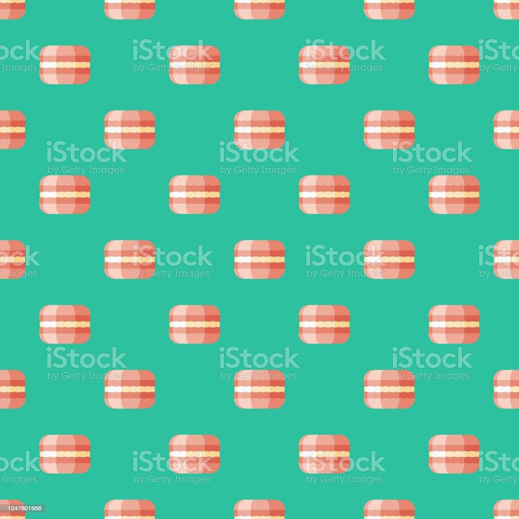 Macaron französischen nahtlose Muster – Vektorgrafik