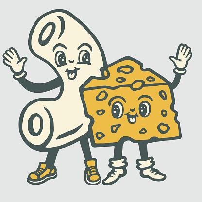 Macaroni and Cheese Characters