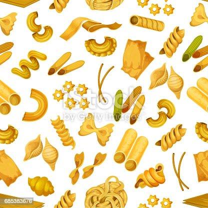 istock Macaroni or italian pasta seamless pattern 685383676