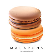 Macarons. Vector Illustration