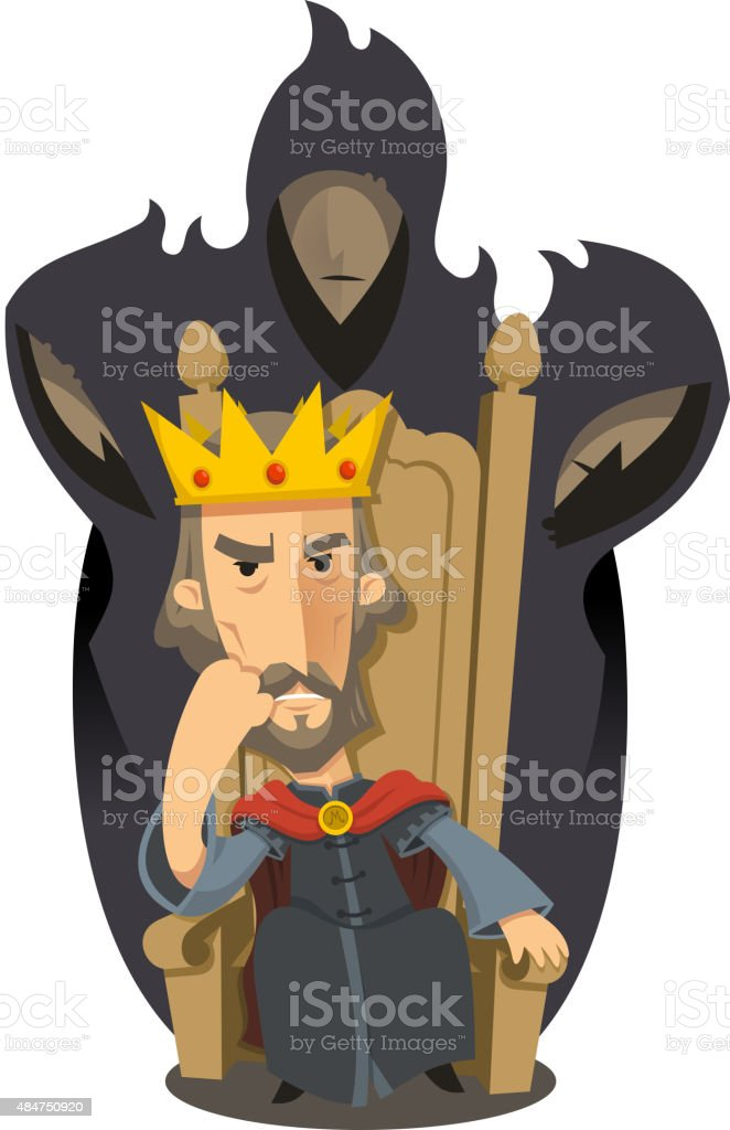 Macbeth Play by William Shakespeare vector art illustration
