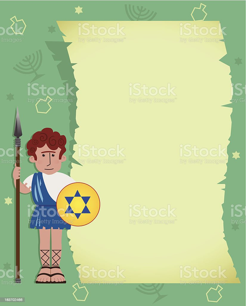 Maccabee With Scroll royalty-free maccabee with scroll stock vector art & more images of cartoon