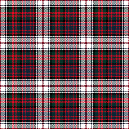 MacDonald Dress Modern Tartan Seamless Pattern