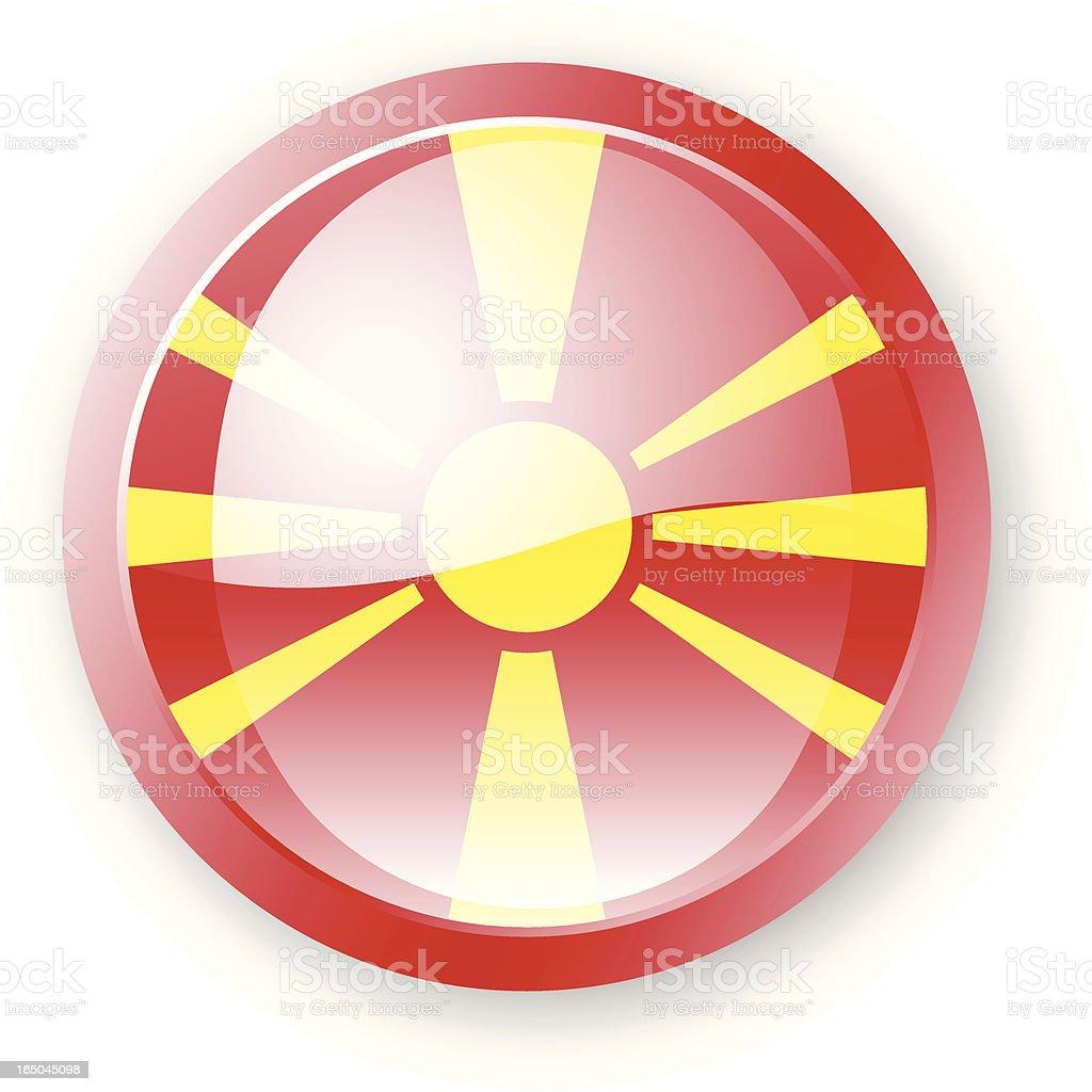 Macedonia Flag Icon royalty-free stock vector art