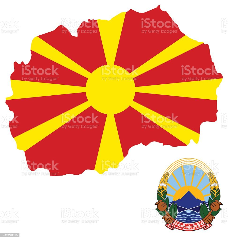 Macedonia Flag vector art illustration