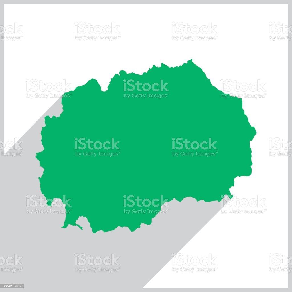 Grune Karte Mazedonien.Symbol Grune Karte Mazedonien Stock Vektor Art Und Mehr