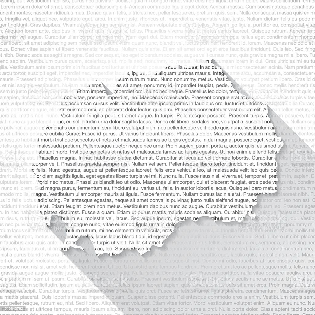 Macedonia Map on Text Background - Long Shadow vector art illustration