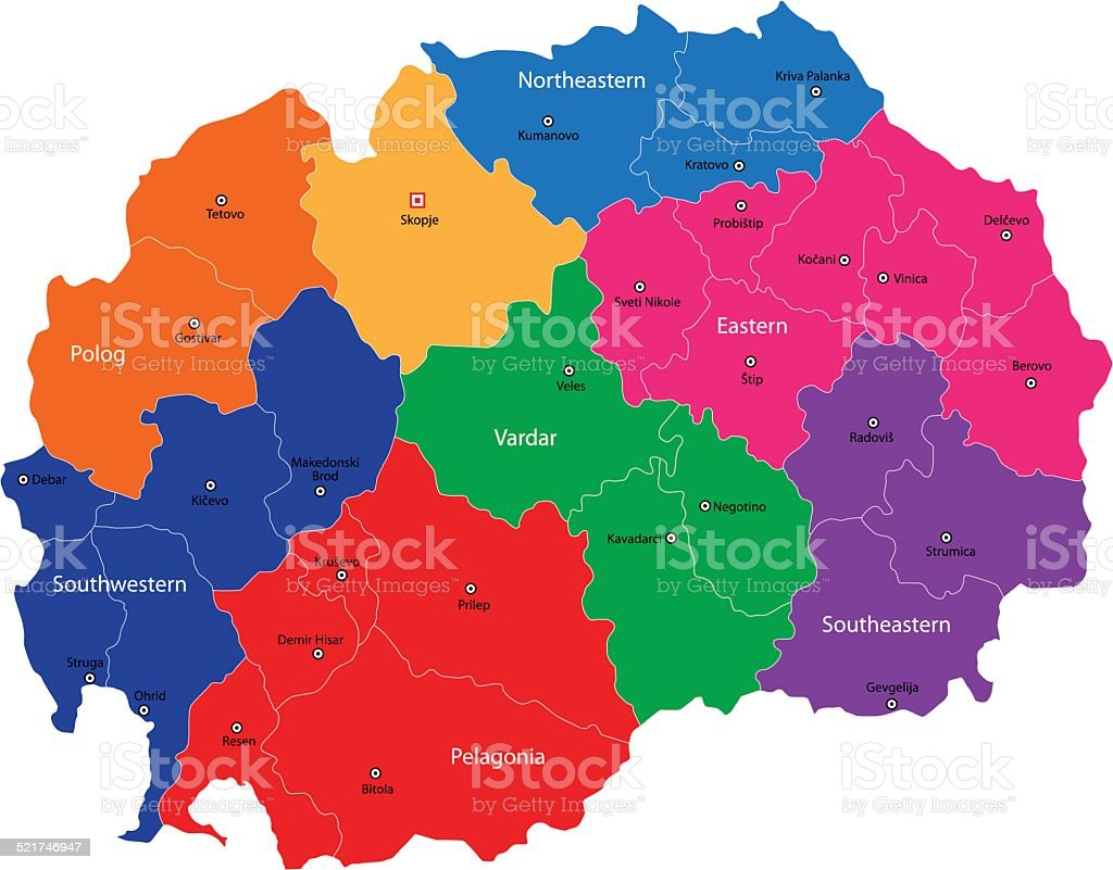 Grune Karte Mazedonien.Mazedonien Karte Stock Vektor Art Und Mehr Bilder Von Europa