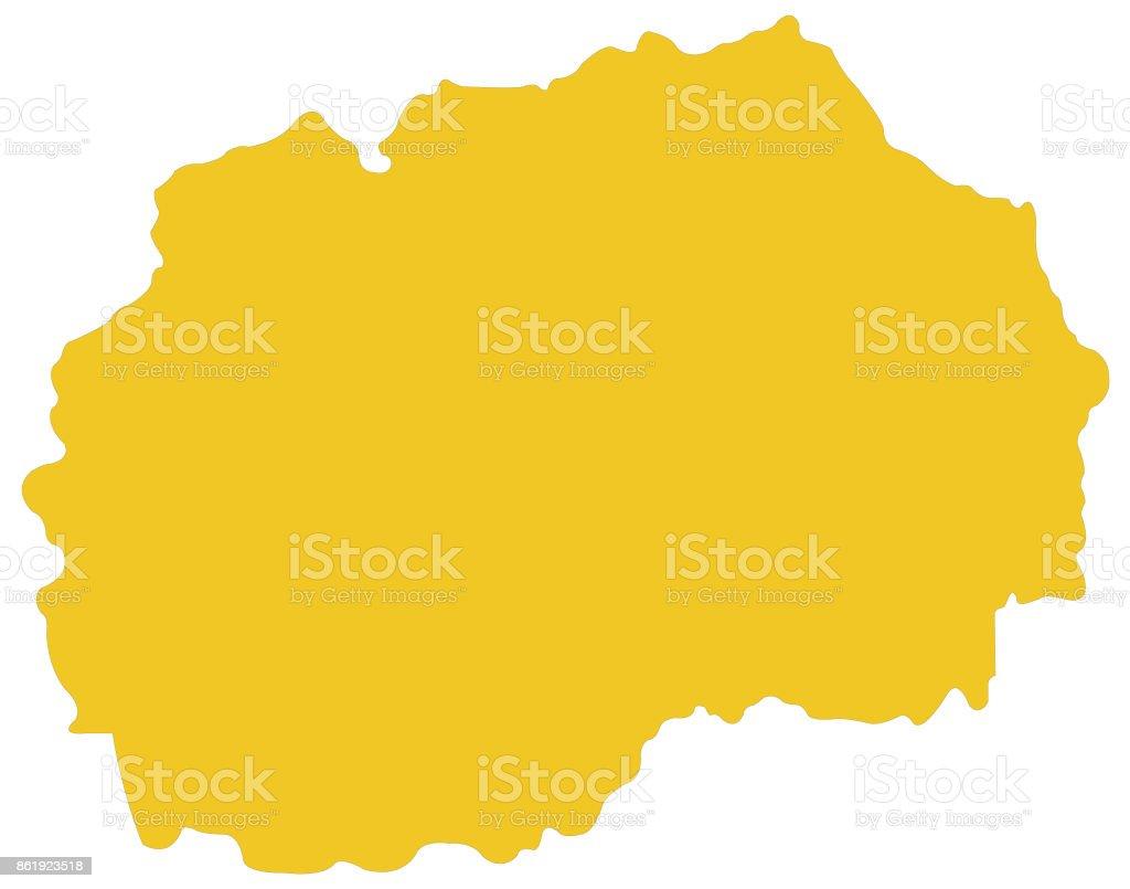 Mazedonien Karte.Mazedonien Karte Stock Vektor Art Und Mehr Bilder Von Balkan Istock
