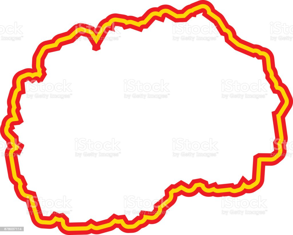 Macedonia Outline vector art illustration