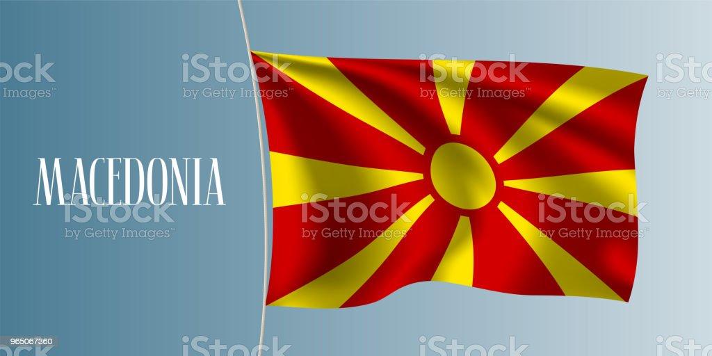 Macedonia waving flag vector illustration macedonia waving flag vector illustration - stockowe grafiki wektorowe i więcej obrazów bez ludzi royalty-free