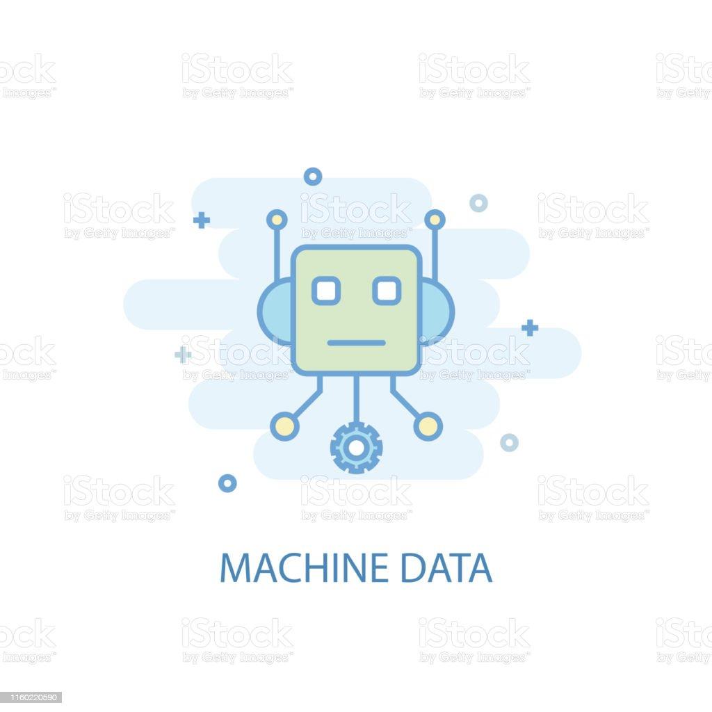 Machine Data line trendy icon. Simple line, colored illustration....