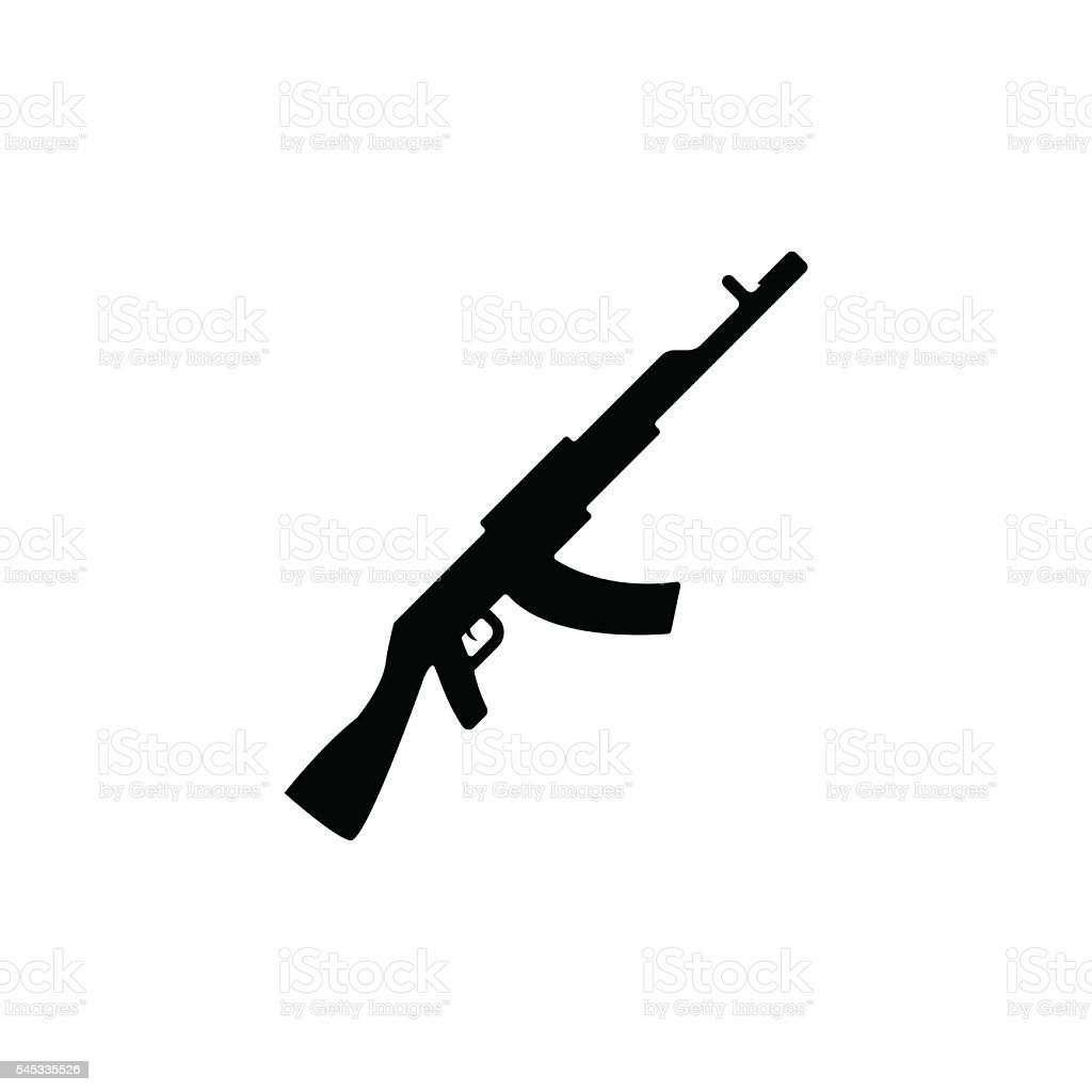 Machine gun icon. Vector illustration vector art illustration