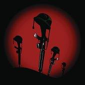 Machine gun tombstones