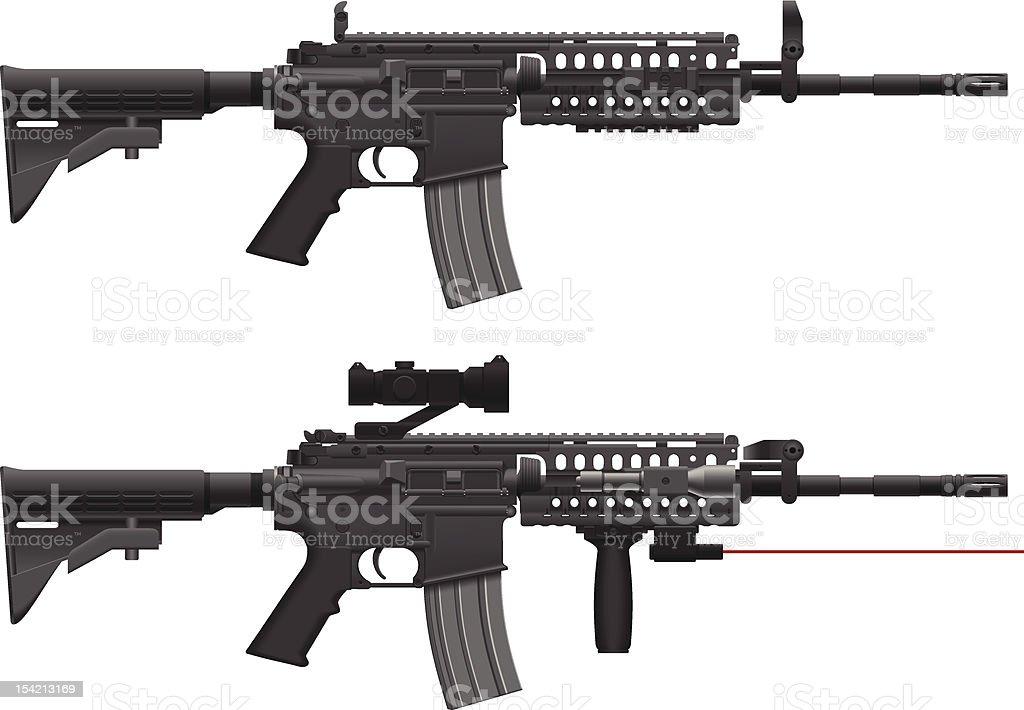 Machine Gun vector art illustration