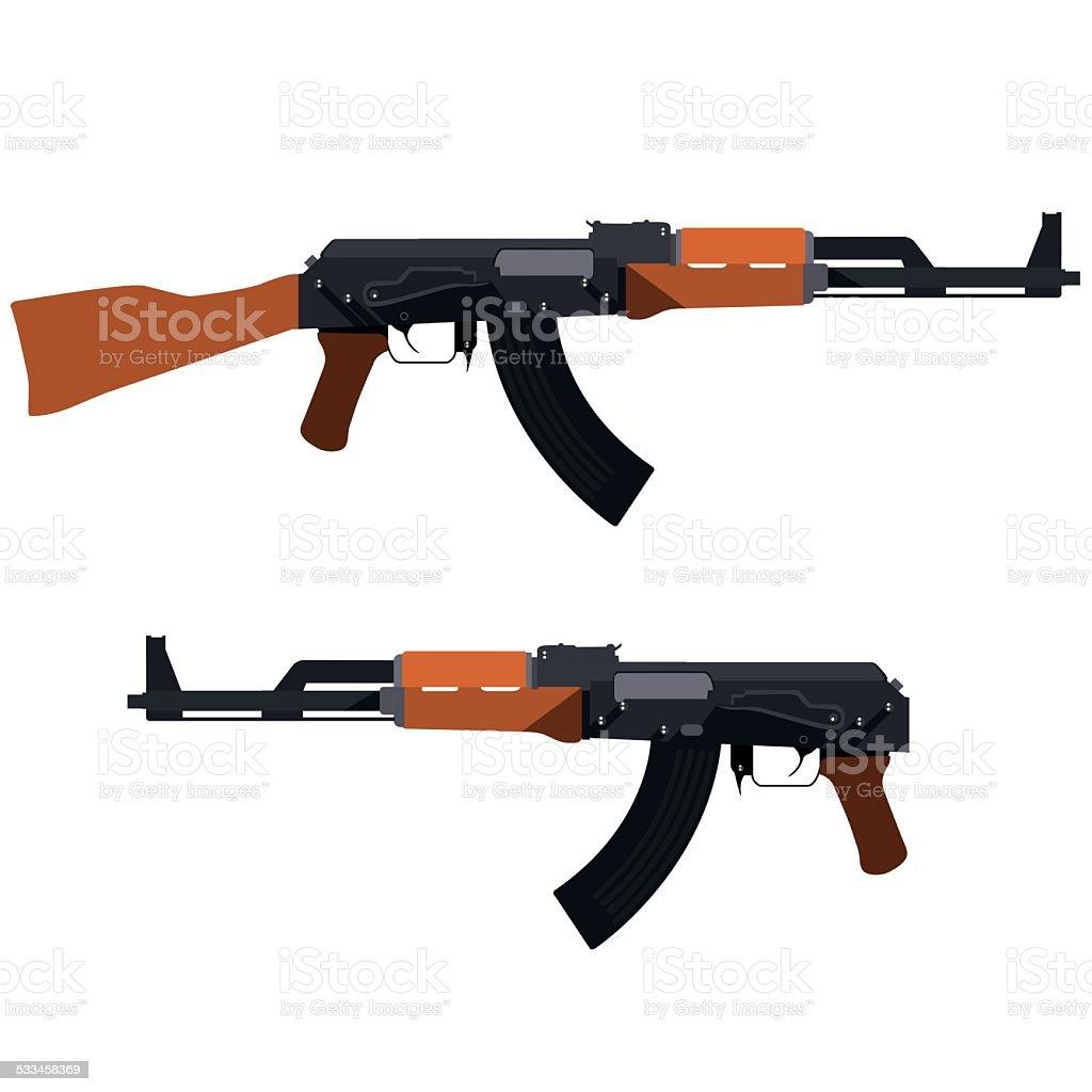 マシン銃 ベクターアートイラスト