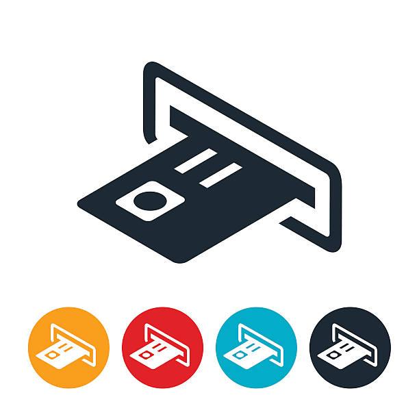 atm maschine-icon - geldautomat stock-grafiken, -clipart, -cartoons und -symbole