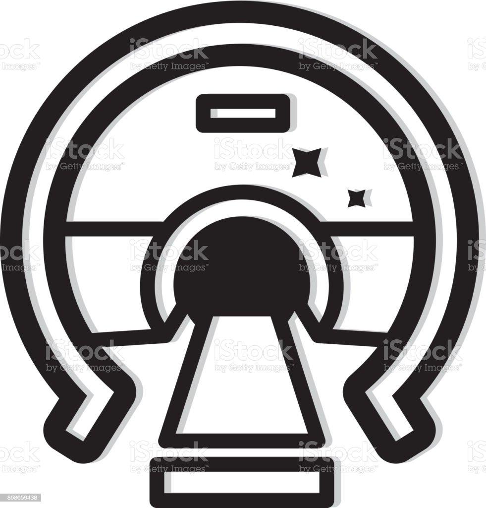 MRI Machine Icon vector art illustration