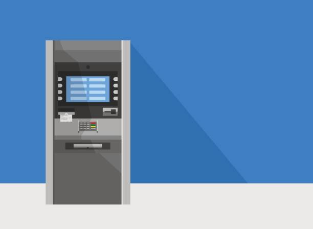 ATM machine in bank or office vector concept. vector art illustration