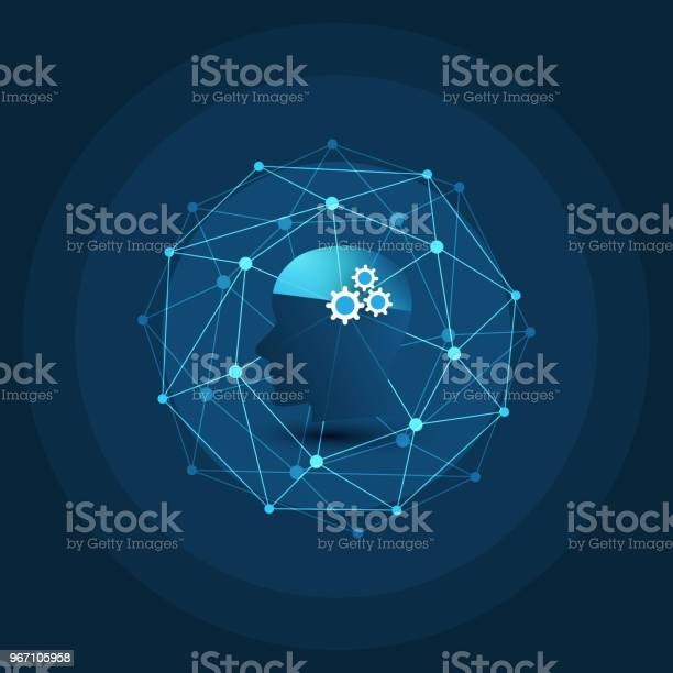 Machine Learning Artificial Intelligence Cloud Computing And Networks Design Concept Stock Illustration - Download Image Now