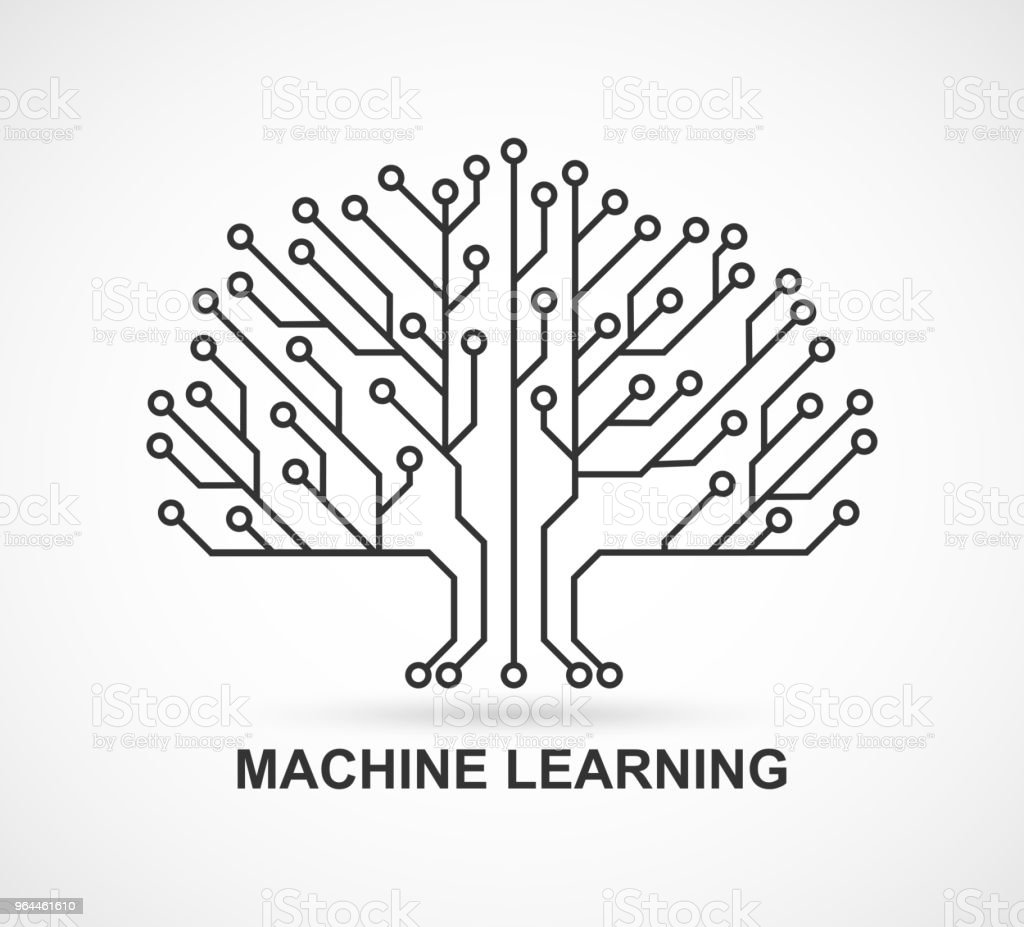 machine learning artificial intelligence technological background with a printed circuit board