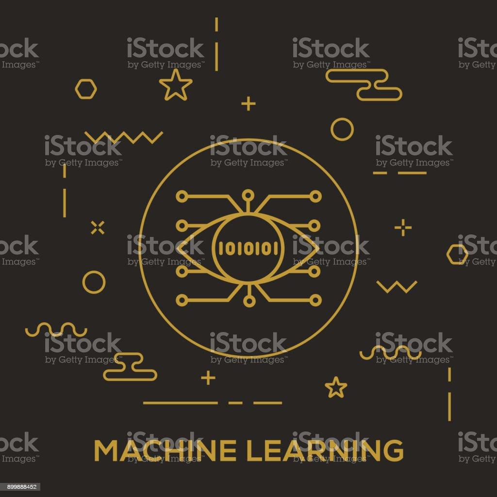 Concepto de aprendizaje automático - ilustración de arte vectorial