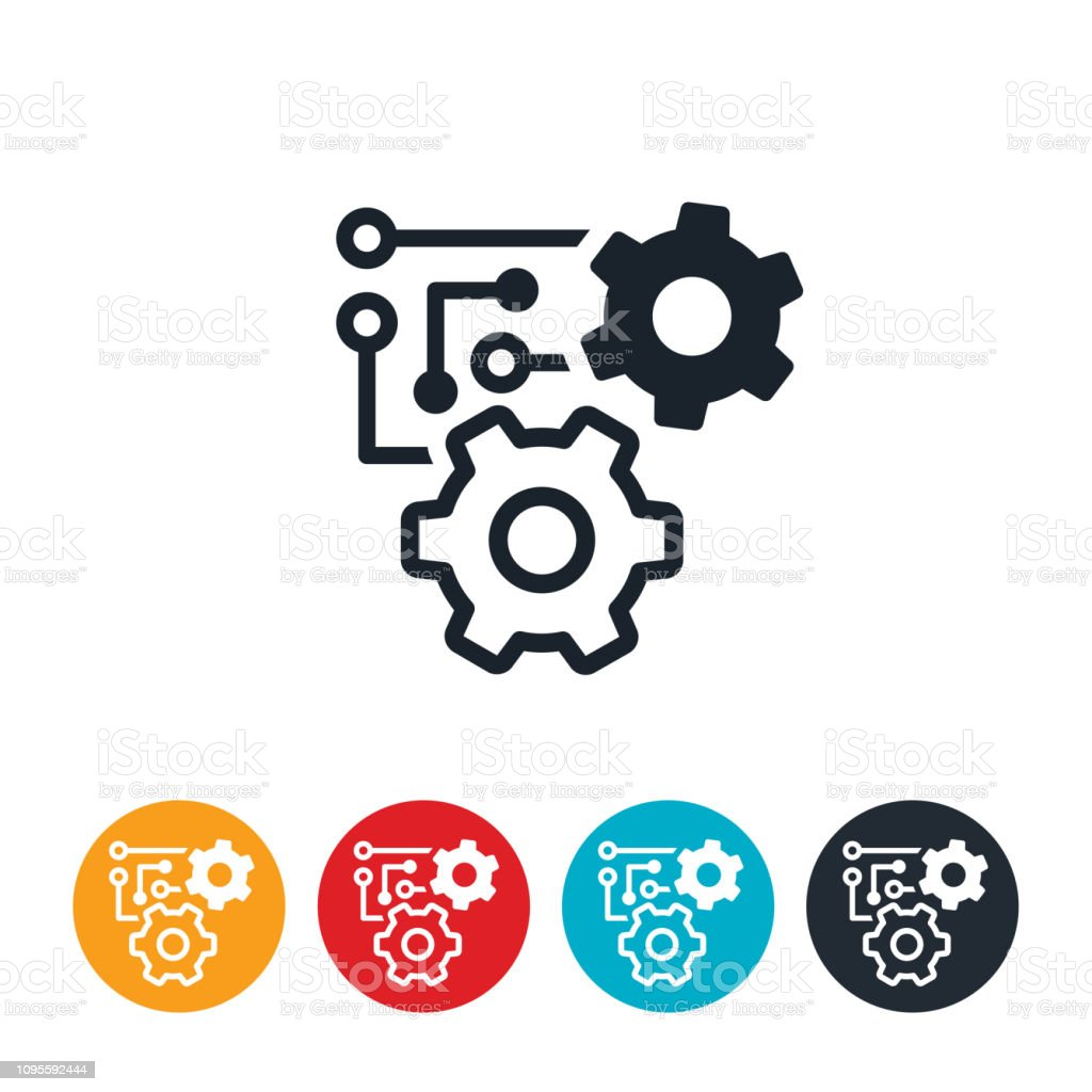Machine Learning Icon Stock Illustration Download Image Now