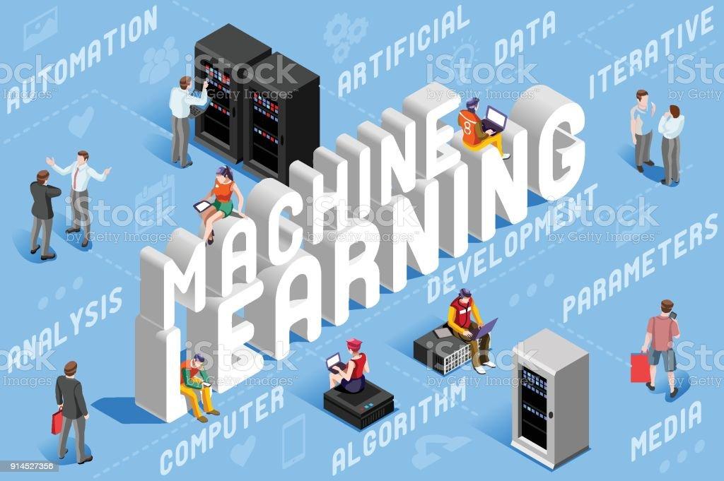 Machine Learning Illustration machine learning illustration vecteurs libres de droits et plus d'images vectorielles de abstrait libre de droits
