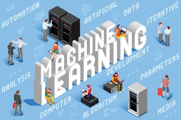 machine learning illustration - machine stock illustrations, clip art, cartoons, & icons