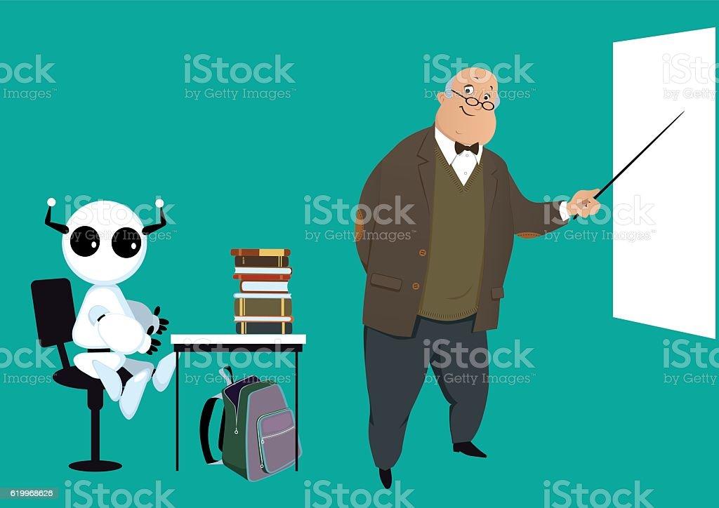Máquina de aprendizaje ilustración de máquina de aprendizaje y más banco de imágenes de adulto libre de derechos