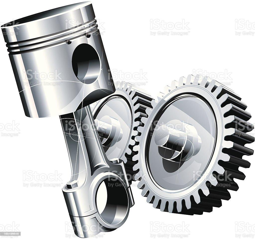 machine power vector art illustration