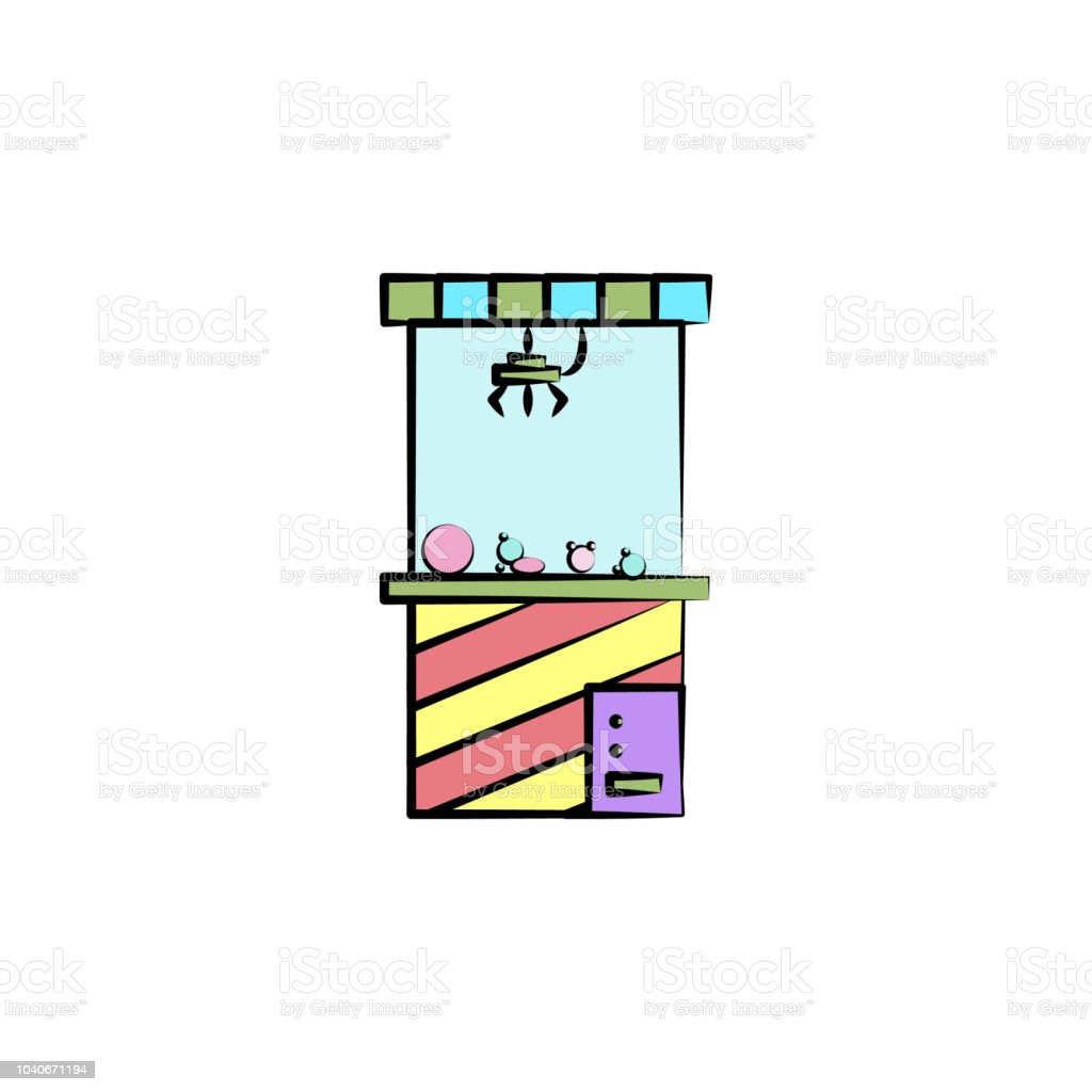 machine with toys colored icon. Element of colored circus icon for mobile concept and web apps. Color machine with toys icon can be used for web and mobile vector art illustration