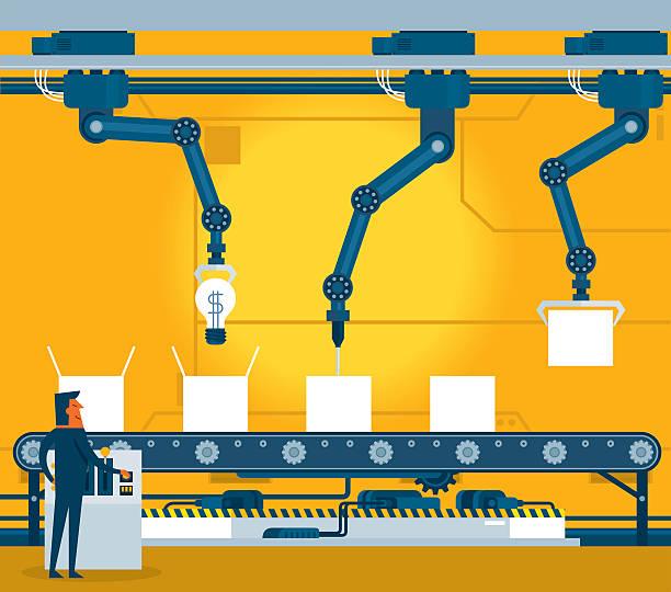 illustrations, cliparts, dessins animés et icônes de machinery industrial factory - infographie industrie manufacture production