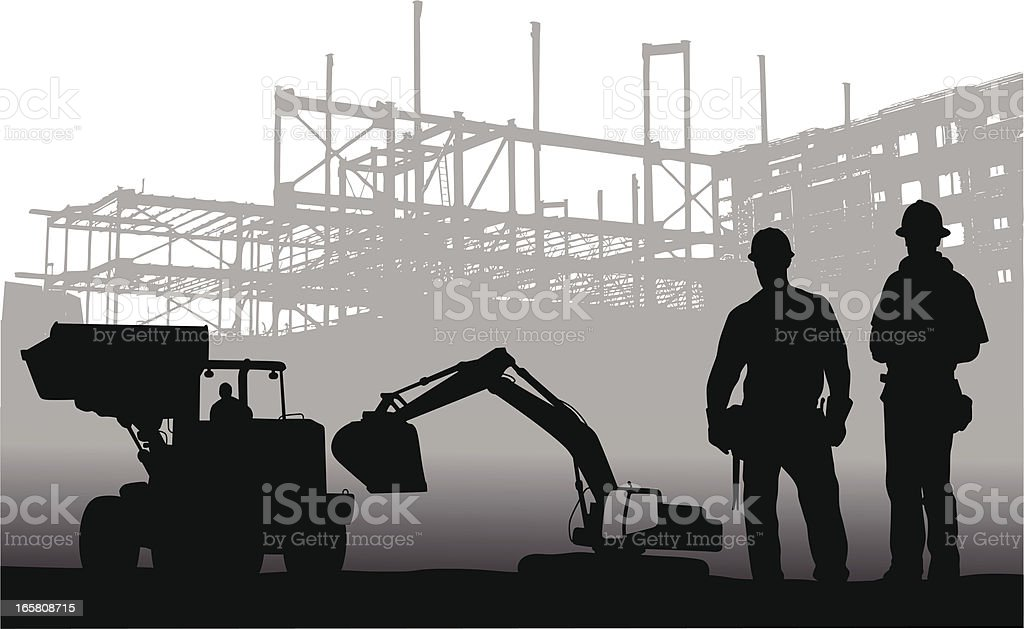 Machinery Vector Silhouette vector art illustration