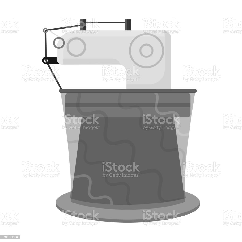 Machinery,single icon in monochrome style.Machinery vector symbol stock illustration web. - Векторная графика Без людей роялти-фри